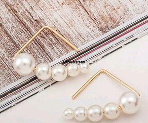 Vintage Pearl Triangle Earrings